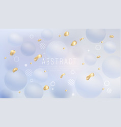 liquid background with golden fluid vector image