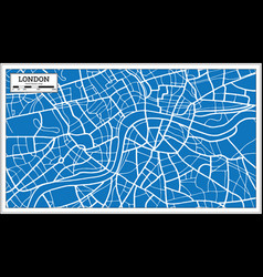 London england map in retro style vector