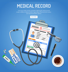Medical record concept vector