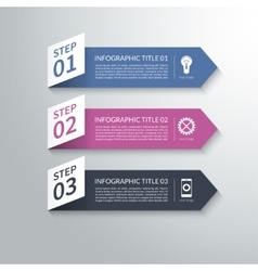 Modern 3d paper arrow infographic design elements vector image