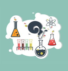 Old science and chemistry infographic laboratory vector image