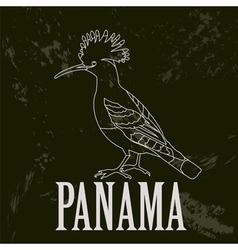 Panama landmarks Retro styled image vector