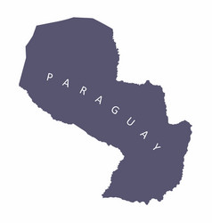 paraguay silhouette map vector image