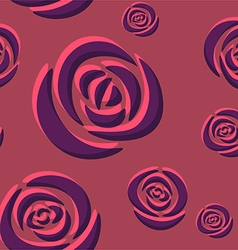 Pattern of dark purple roses vector