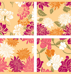 patterns of the decorative flowers vector image