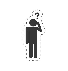 Pictogram question mark imag vector