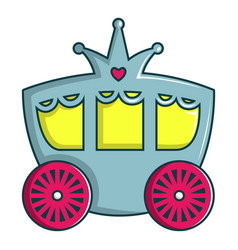 Princess carriage icon cartoon style vector