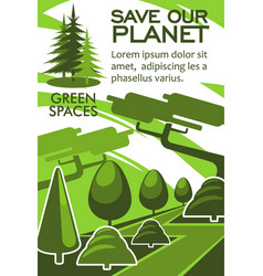 save planet and nature resources eco banner design vector image