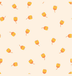 scandinavian tulip flowers seamless pattern vector image
