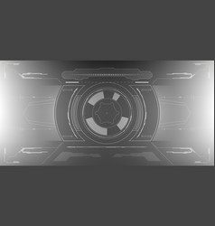 sci-fi futuristic glowing hud display vitrual vector image