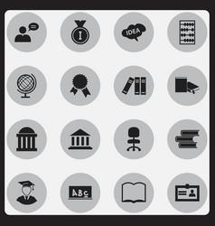 Set 16 editable science icons includes symbols vector