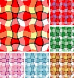 set of plaids vector image