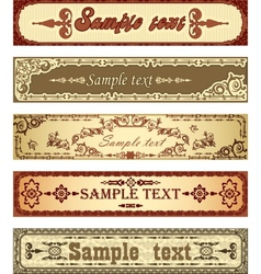 Set of retro banners vector image
