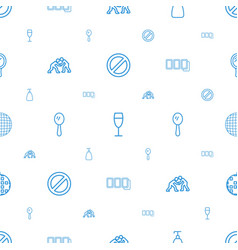 shiny icons pattern seamless white background vector image