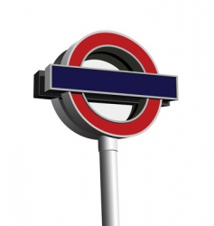 signpost of London underground vector image vector image