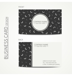 Simple business card design Memphis style vector