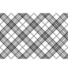 simple pixel check black white seamless pattern vector image