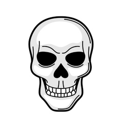 Skull retro tattoo symbol Cartoon old school vector