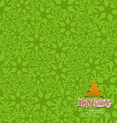 Snow flakes texture design green background vector image