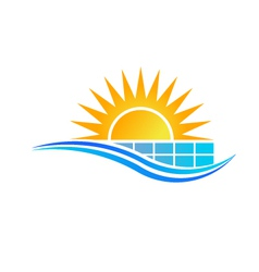 Solar panel logo vector