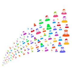 Source stream of people symbols vector
