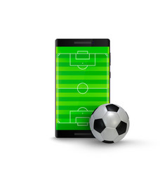 sport betting online mobile phone with football vector image