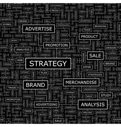 STRATEGY vector image