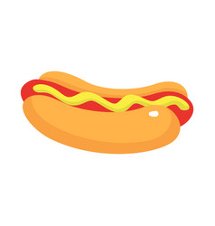 street food of hotdog icon isometric style vector image