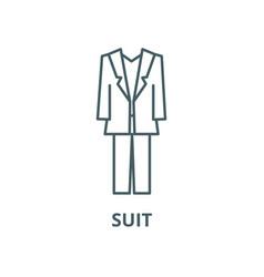 suit line icon linear concept outline vector image
