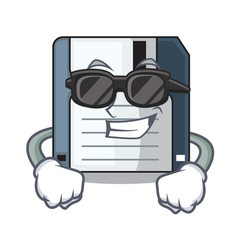 Super cool floppy disk isolated with a mascot vector