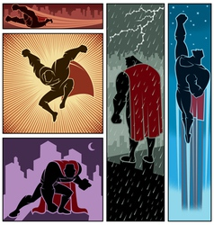 Superhero Banners 3 vector