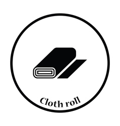 Tailor cloth roll icon vector