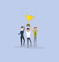 team of happy young men amp women icon with vector image