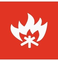 The fire icon Bonfire symbol Flat vector image
