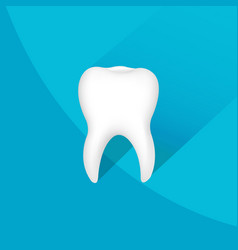 tooth symbol with background vector image