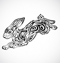 tribal rabbit vector image