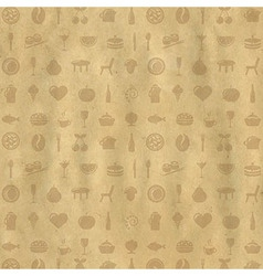 Vintage Restaurant Background vector image vector image