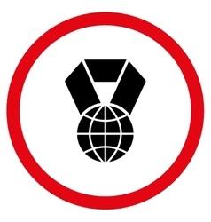 World Award Flat Rounded Icon vector image
