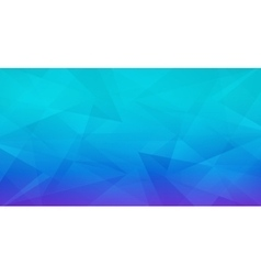 Abstract geometric polygonal blue background vector image