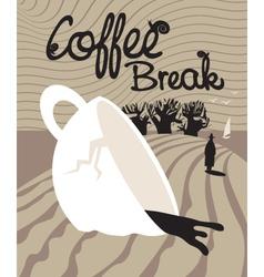dream of a coffee break vector image