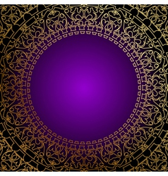 oriental gold ornament vector image vector image