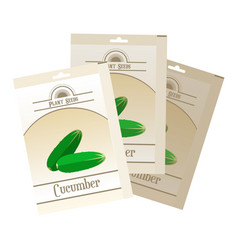 pack of cucumber seeds icon vector image vector image