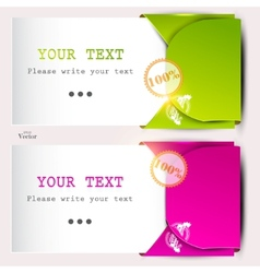 paper sheets with envelopes for text vector image vector image