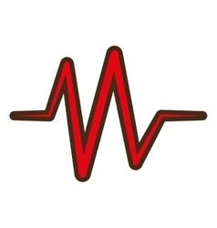 red heart pulse rhythm icon vector image