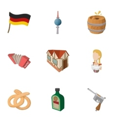 Republic of Germany icons set cartoon style vector image vector image