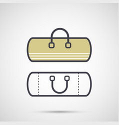 sport bag with handles icon vector image