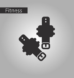 Black and white style icon athletic weights on vector