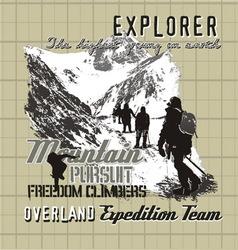 Explorer expedition vector