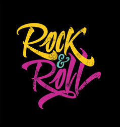 inscription rock and roll for the poster t-shirts vector image vector image