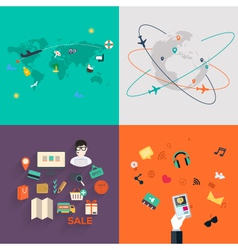 Set of icons flat design mobile phones vector